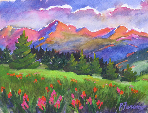 Alpine Glow - Indian Paintbrush